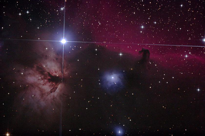 4 X 4 >> Astronomie > Emissionsnebel > Flammennebel und Pferdekopfnebel